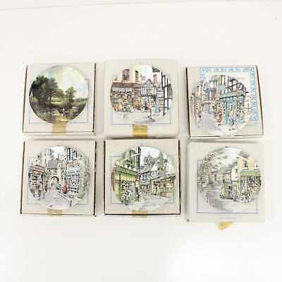 6x Royal Doulton Collectors Plate Series Hay Wain China Flower Toy Shop #209