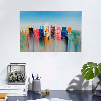 Modern Hand Painted Art Oil Painting Stretched Canvas Home Decor - Mirage Framed