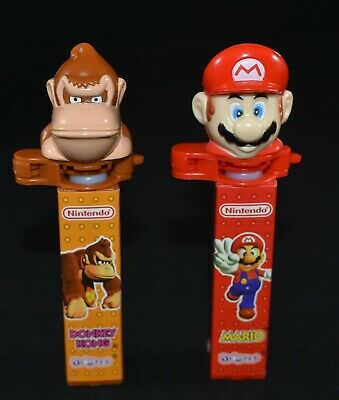 2 X Collectable Used Nintendo Pez Dispensers Super Mario And Donkey Kong