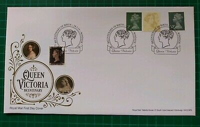 2019 2p & 50p Machin M19L MPIL FDC Ex Queen Victoria PSB . Windsor Head pmk