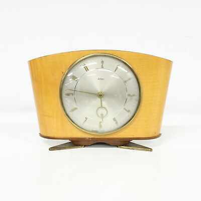 Vintage Metamec Winding Table Clock Wooden Frame Made in England 15cm Tall #311