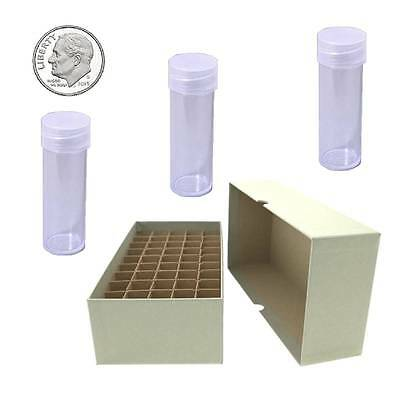 Guardhouse Dime Green Coin Tube Box with, 50 Dime KOIN Round coin Tubes