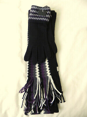BNWT Ladies Scarf and Gloves Set One Size