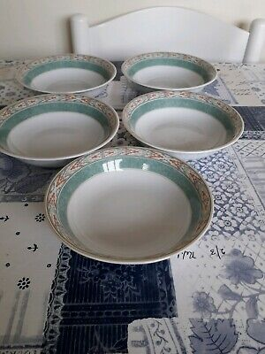 WEDGWOOD HOME AZTEC CEREAL/SOUP BOWLS x 5