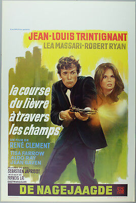 Vintage 60s/70s movie poster : LA COURSE DU LIÈVRE À TRAVERS LES CHAMPS