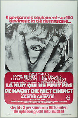 Vintage 60s/70s movie poster : LA NUIT QUI NE FINIT PAS