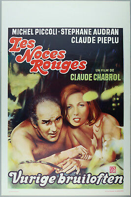 Vintage 60s/70s movie poster : LES NOCES ROUGES