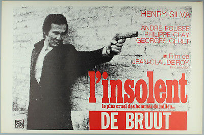 Vintage 60s/70s movie poster : L'INSOLENT