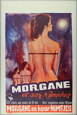 Vintage 60s/70s movie poster : MORGANE ET SES NYMPHES