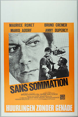 Vintage 60s/70s movie poster : SANS SOMMATION