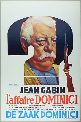 Vintage 60s/70s movie poster : L'AFFAIRE DOMINICI