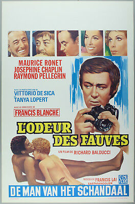 Vintage 60s/70s movie poster : L'ODEUR DES FAUVES