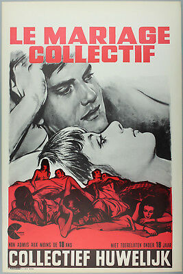 Vintage 60s/70s movie poster : LE MARIAGE COLLECTIF