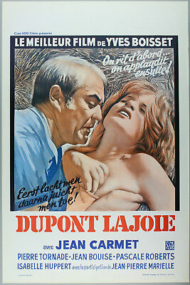 Vintage 60s/70s movie poster : DUPONT LAJOIE