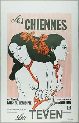 Vintage 60s/70s movie poster : LES CHIENNES