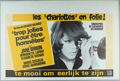 "Vintage 60s/70s movie poster : LES ""CHARLOTTES"" EN FOLIE!"
