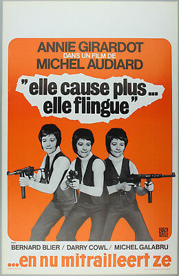 "Vintage 60s/70s movie poster : ""ELLE CAUSE PLUS ... ELLE FLINGUE"""