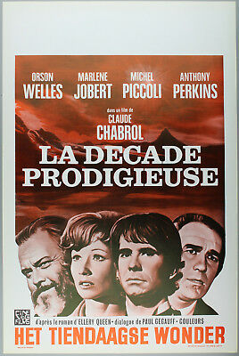 Vintage 60s/70s movie poster : LA DECADE PRODIGIEUSE