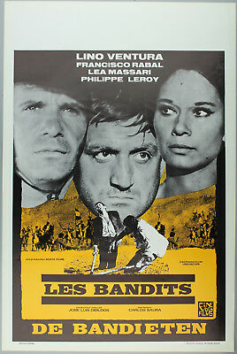 Vintage 60s/70s movie poster : LES BANDITS