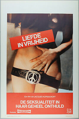 Vintage 60s/70s movie poster : LIEFDE IN VRIJHEID