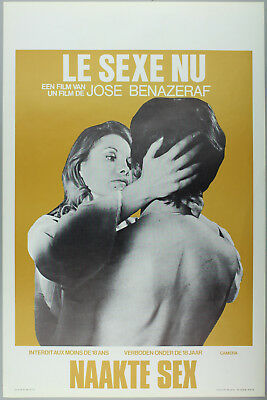 Vintage 60s/70s movie poster : LE SEXE NU
