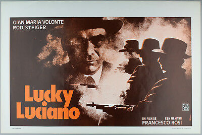 Vintage 60s/70s movie poster : LUCKY LUCIANO