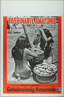Vintage 60s/70s movie poster : FASCINANTE AMAZONE