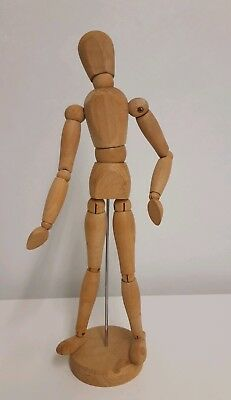 """Artist Wooden Manikin Mannequin 12"""" Inch Sketching Lay Figure Drawing Model Aid"""