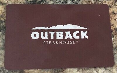 Outback Steakhouse Gift Card - $25.00 FREE SHIPPING, NO EXPIRATION, NEVER USED