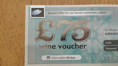 FAST DELIVERY! £75 Voucher for Wines