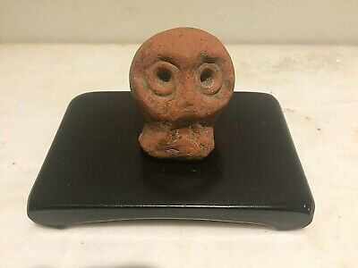 Pre-Columbian Mayan  Ancient Artifact  Skull Head Fragment Piece