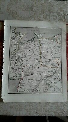 1794 -  John Cary original map 39 Denbighshire,  abergeley