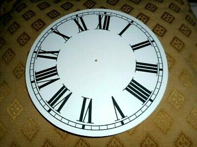"Round Paper Clock Dial - 9"" M/T - Roman - MATT WHITE - Face /  Parts/Spares"