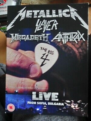 The Big Four DVD Live From Sonisphere / Sofia Metallica Megadeth ANTHRAX VGC