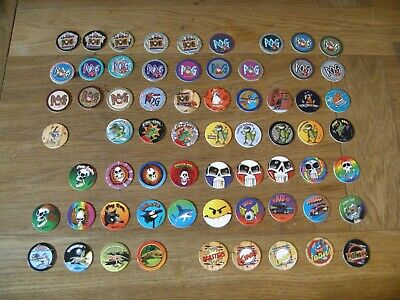 WADDINGTONS POGS SERIES 1 & 2 plus holders - 119 Pogs in total