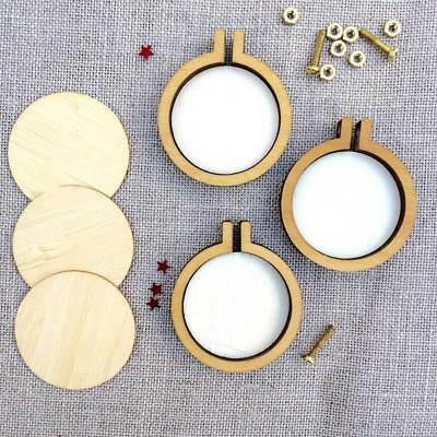 Mini Wooden Cross Stitch Hoop Ring Embroidery Circle Sewing Kit Frame Craft Fast