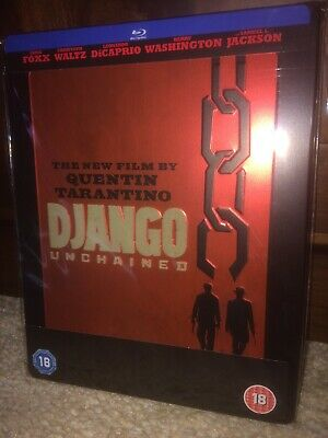 Django Unchained Blu Ray Steelbook New Not Sealed 1st Print RARE