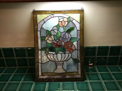 Stained Glass Hanging Suncatcher Panel