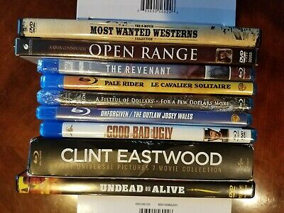 Lot of 14 Blu-Ray Westerns + 8 DVD Movies - VG to New Condition - PLEASE READ