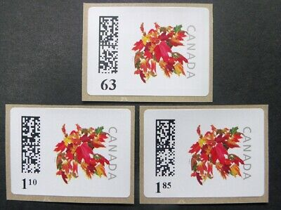CANADA 63c,$1.10,$1.85,MAPLE LEAF KIOSK STAMP SECOND ISSUE 2013