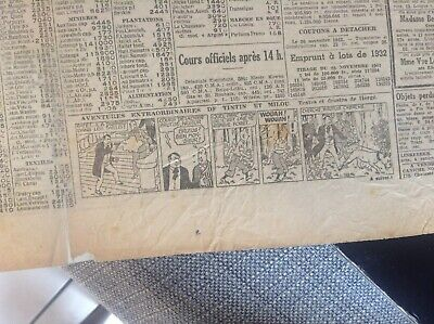 Rare ancien journal Le soir 1942 Strip Tintin BE