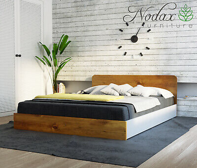 """King Size Solid Bed Frame with slats """"F8"""""""