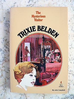 Vintage TRIXIE BELDEN #4 The Mysterious Visitor - Oval Softcover- 1977 EUC