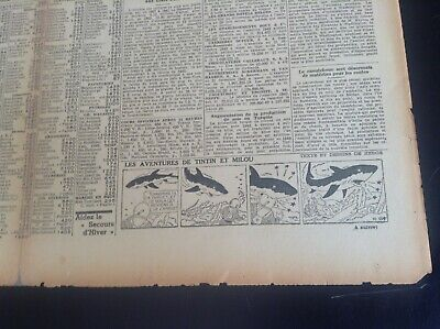 Rare ancien journal Le soir 1943 Strip Tintin