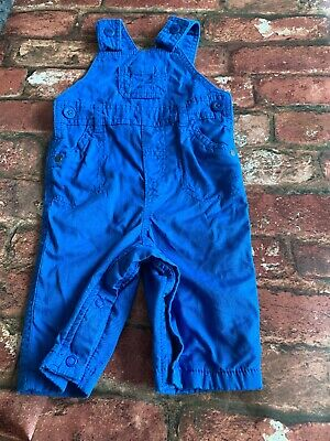 Baby Boys 0-3 Months Blue Dungarees Marks And Spencer M&S