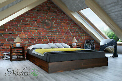 """King Size Solid Bed Frame with slats """"F9"""""""