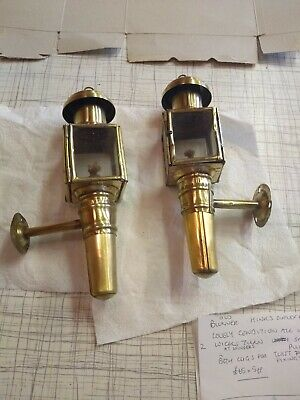 Pair Of Small Brass Carriage Lamps