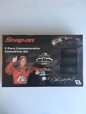 Snap On D Earnhardt Jr 2004 Daytona 500 5Pc Screwdriver Set - Sealed