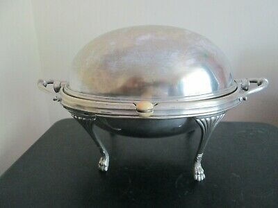 Antique Walker & Hall Silver Plated Bacon / Breakfast Dish With Revolving Cover
