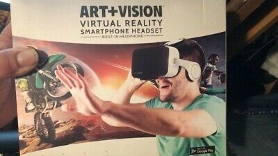 Art+Vision Virtual Reality Smartphone Headset with built-in Headphone NIB